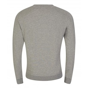 Cp Company undersixteen sweater trui crew neck basic fleece in de kleur grijs