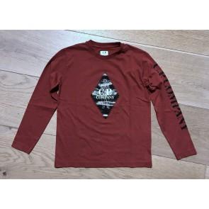 Cp Company undersixteen longsleeve jersey shirt in de kleur bordeaux rood