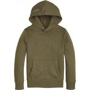 Tommy Hilfiger kids boys essential hoodie in de kleur army green groen