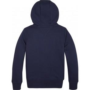 Tommy Hilfiger kids boys essential full zip hoodie in de kleur donkerblauw
