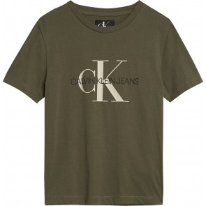 Calvin Klein jeans boys t-shirt monogram in de kleur grape leaf groen