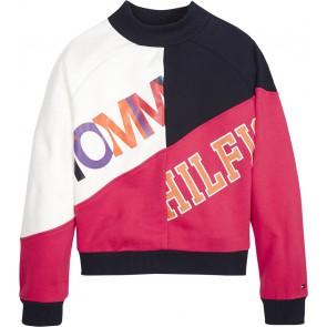 Tommy Hilfiger kids girls sweater trui color block in de kleur multicolor