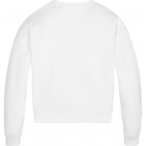 Tommy Hilfiger kids girls sweater trui lurex flag slouchy in de kleur wit