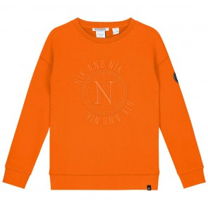Nik en Nik Abel sweater trui in de kleur carrot orange oranje