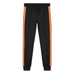 Nik en Nik Ferdy track pants met logo bies in de kleur zwart oranje