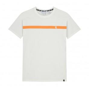Nik en Nik Adam t-shirt met oranje streep in de kleur off white
