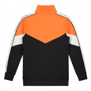 Nik en Nik Almo track jacket met logo bies in de kleur oranje zwart