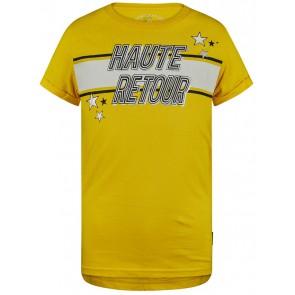 Retour Jeans Alice t-shirt met print in de kleur geel