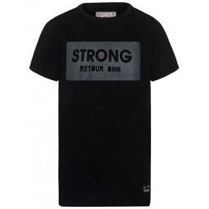 Retour Jeans Sef t-shirt met print in de kleur zwart