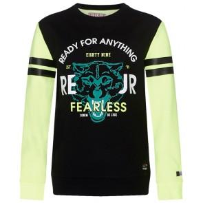 Retour Jeans Mathew sweater trui in de kleur neon geel/zwart