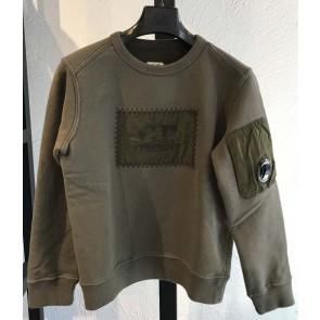 CP Company sweater trui met logo in de kleur groen