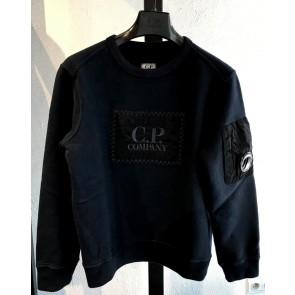 CP Company sweater trui met logo in de kleur zwart