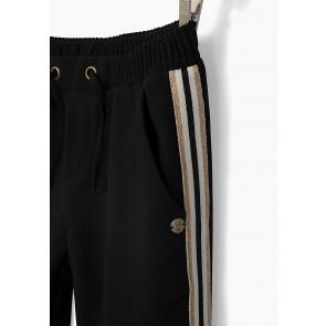 IKKS girls broek met gouden bies in de kleur zwart