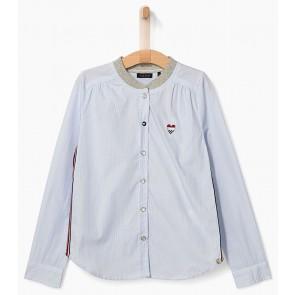IKKS girls blouse met fijne streepjes in de kleur blauw