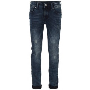 Indian Blue Jeans blue Ryan skinny fit broek in de kleur used dark denim blauw