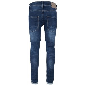 Indian Blue Jeans blue Andy flex skinny fit broek in de kleur dark denim blauw