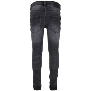 Indian Blue Jeans black Brad super skinny fit broek in de kleur used denim zwart