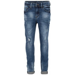 Indian Blue Jeans blue Jay tapered fit met paint print in de kleur medium denim blauw