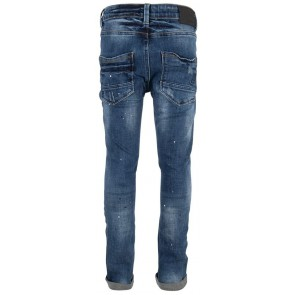 Indian Blue Jeans blue Jay tapered fit met paint print in de kleur medium denim blauw