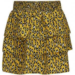 Retour Jeans Agnese rok met panterprint in de kleur okergeel