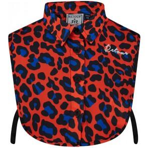 Retour Jeans Esmee blouse kraagje met panterprint in de kleur oranje