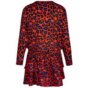 Retour Jeans Diede jurk met panterprint in de kleur oranje