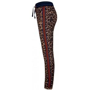 Retour Jeans Pebbles broek met panterprint in de kleur bruin