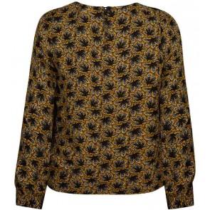 Retour Jeans Mirthe blouse met print in de kleur geel