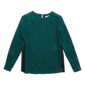 Circle of trust kids girls top met panterprint in de kleur groen