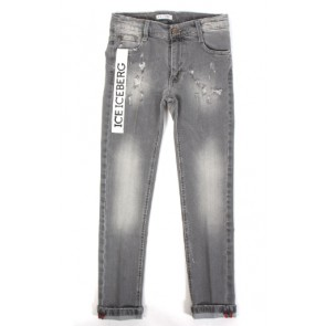 Iceberg kids boys jeans broek used denim skinny in de kleur grijs