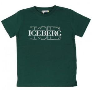 Iceberg kids boys t-shirt met logo print in de kleur donkergroen