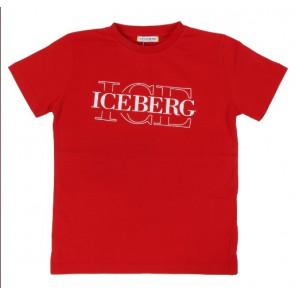 Iceberg kids boys t-shirt met logo print in de kleur rood