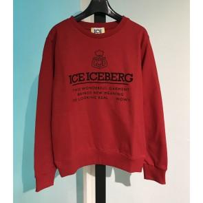 Iceberg kids boys sweater trui met logo print in de kleur rood