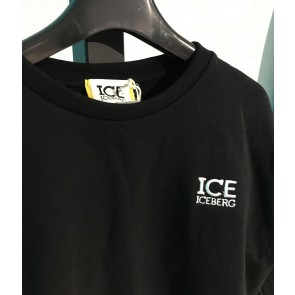 Iceberg kids boys trui met klein logo in de kleur zwart