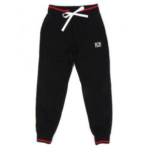 Iceberg kids boys sweatpants met rode accenten in de kleur zwart