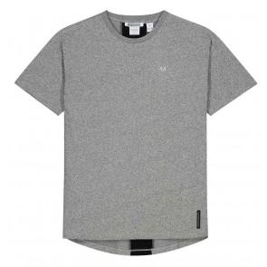 NIK en NIK Pelle t-shirt met logoband in de kleur gemêleerd grijs