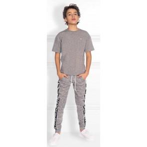 NIK en NIK Freddie pants broek met logoband in de kleur gemêleerd grijs