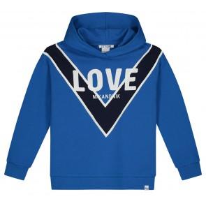 NIK en NIK Love hoodie trui in de kleur kobalt blauw