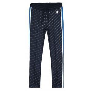 NIK en NIK Track pants met logoprint en bies in de kleur donkerblauw