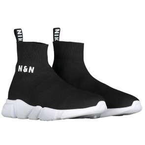NIK en NIK Jake sneaker sokschoen in de kleur zwart