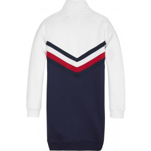 Tommy Hilfiger girls sweatdress jurk met logo in de kleur multicolor