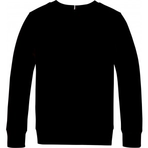Tommy Hilfiger boys logo sweater trui in de kleur zwart
