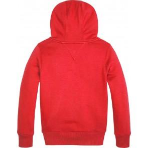 Tommy Hilfiger logo hoodie trui in de kleur rood