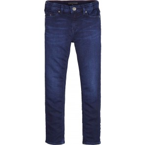 Tommy Hilfiger boys Simon skinny fit broek in de kleur jeansblauw