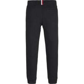 Tommy Hilfiger boys logo sweatpants broek in de kleur zwart