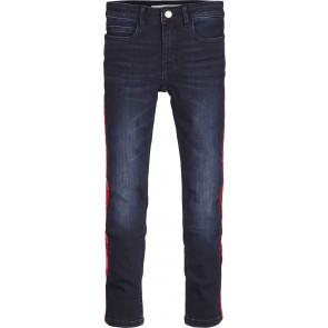 Calvin Klein Jeans skinny fit broek met logotape in de kleur jeansblauw