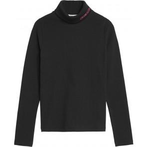 Calvin Klein Jeans coltrui met logo in de kleur zwart