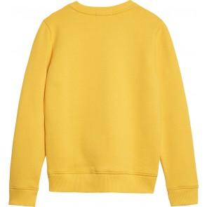 Calvin Klein Jeans sweater trui met logoprint in de kleur geel