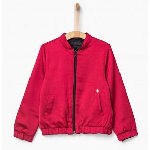 IKKS girls reversible vest met print in de kleur rood/zwart