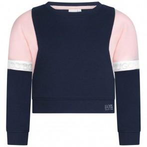 Hugo Boss girls sweater trui in de kleur donkerblauw